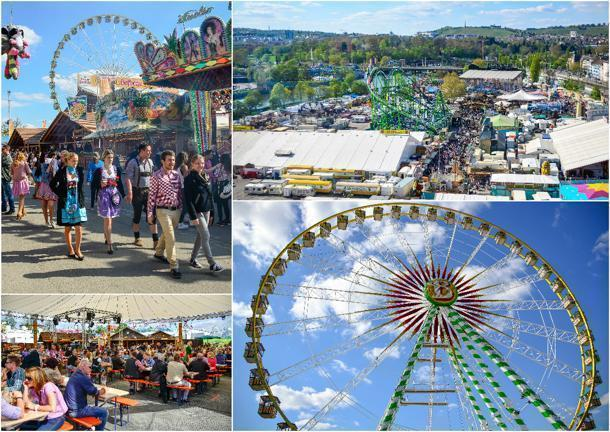 The Frühlingsfest Spring Festival offers rides for all ages