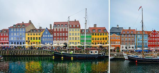 Colourful Nyhavn Harbour, Copenhagen