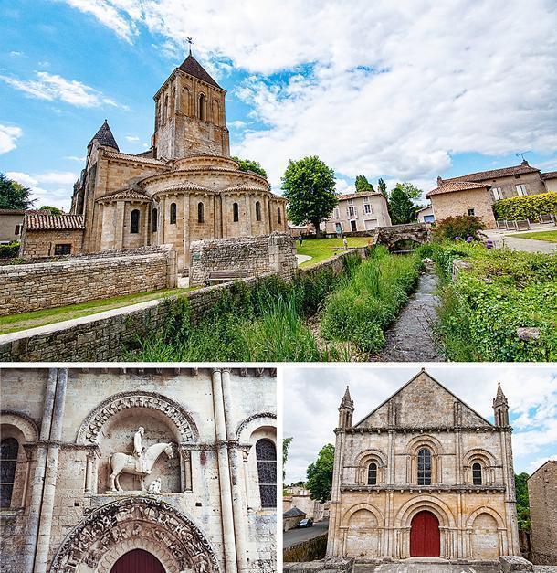 Saint-Hilare's exterior includes some magnificent sculptures