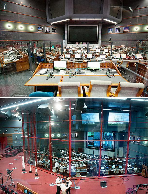 Salle Jupiter on my first visit, and on my second. Things get pretty busy during a launch!