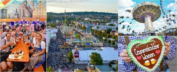 Stuttgart's Cannstatter Volksfest, by day