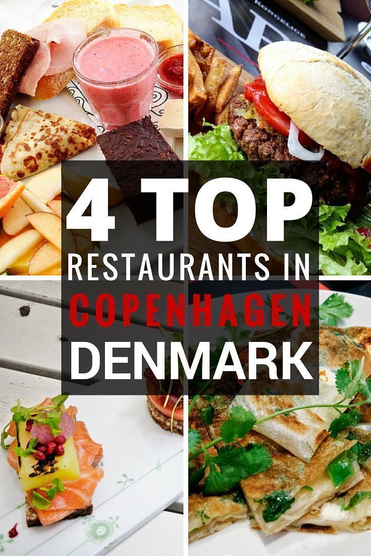 4 top Restaurants in Copenhagen, Denmark