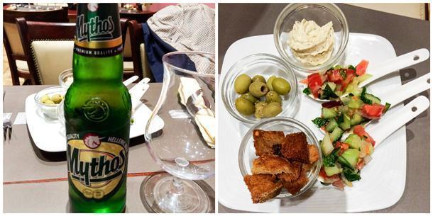 Enjoy your Greek beer with the appetizers!