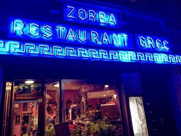Zorba Greek Restaurant on Place Jourdan, in Brussels, Belgium