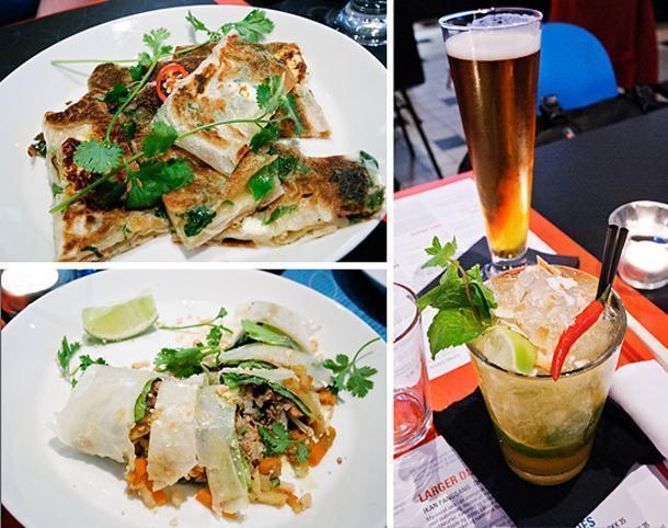 Singaporean fusion food at Namnam restaurant