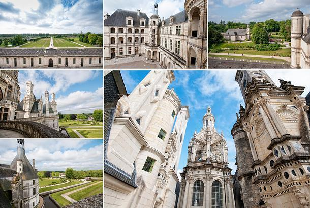 The view from Chambord's roof is impressive; both the view and the architecture itself.