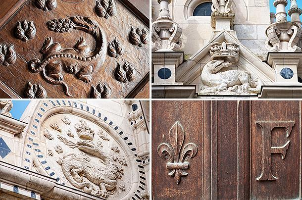Details pointing to Francis I are everywhere throughout Chambord