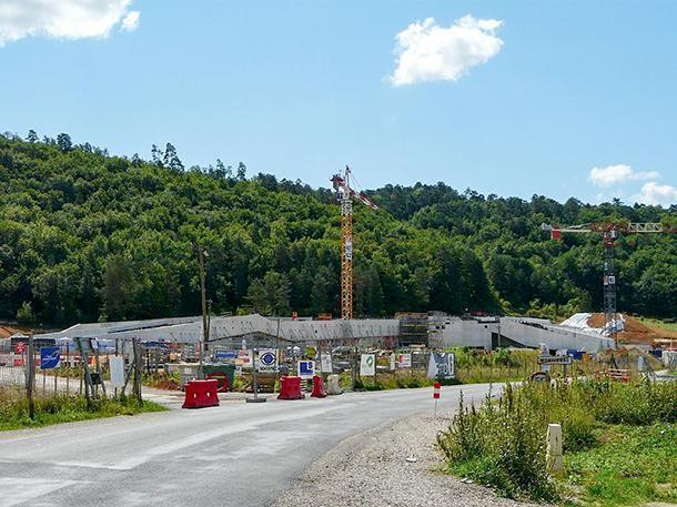 Construction of Lascaux IV, in Montignac, France, as of Aug. 2014