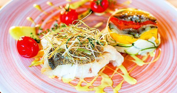 Fresh cod and local vegetables