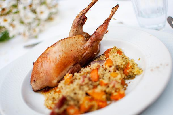 Pigeon and couscous cooked to perfection