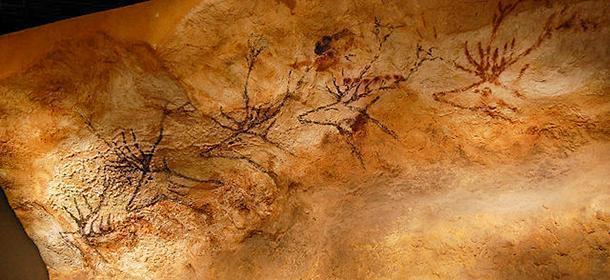 Copy of a prehistoric painting of the Lascaux cave, Musée d'Aquitaine, Bordeaux, France