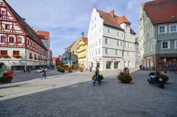 The pretty center of Nordlingen on Germany's Romantic Road