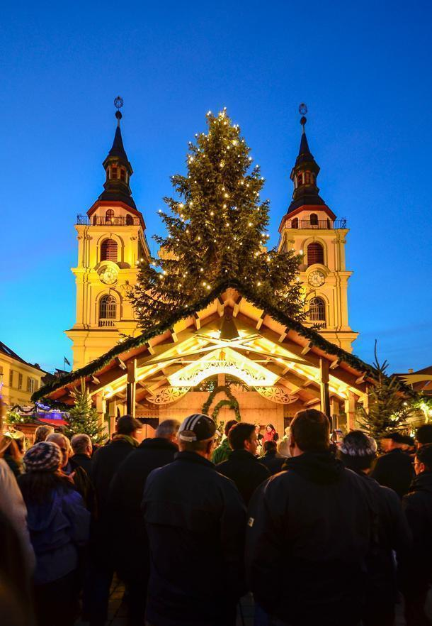 The setting of Ludwigsburg's market is picturesque
