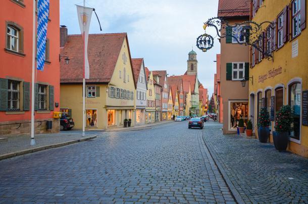 Segringen street Dinkelsbul, Germany is a fairytale setting