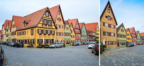The colourful architecture of Dinkelsbühl on Germany's Romantic Road