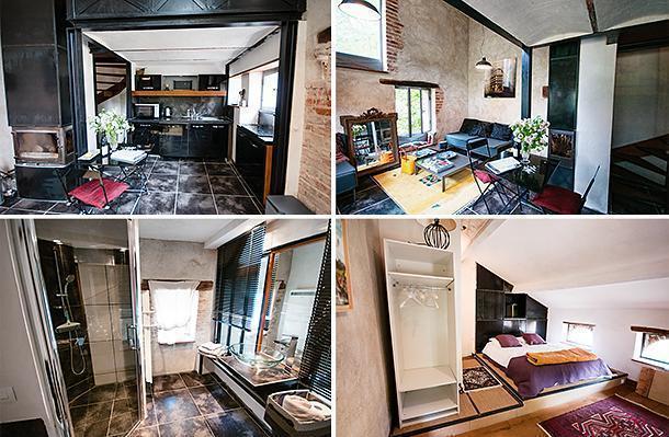 Inside our lovely apartment at Aux Jardins des Thévenets