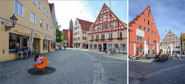 Wander through the pretty back streets of Nordlingen, Germany