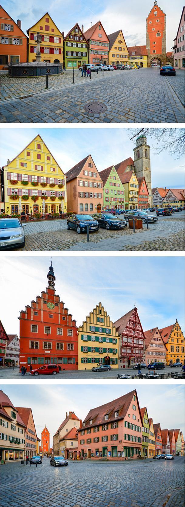The pretty Weinmarkt of Dinkelsbuhl, Germany