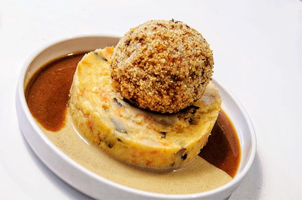 Gourmet meatballs at Balls & Glory in Antwerp, Belgium