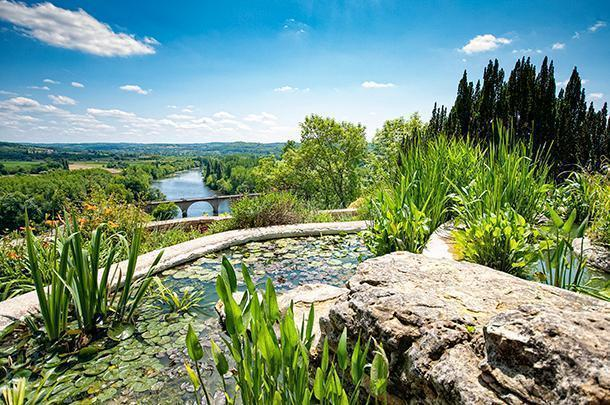 The water garden at the Jardins Panoramiques have a stunning view