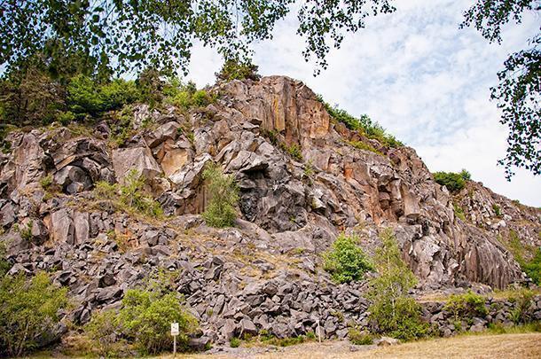 The remains of Bois Basalte's namesake quarry.