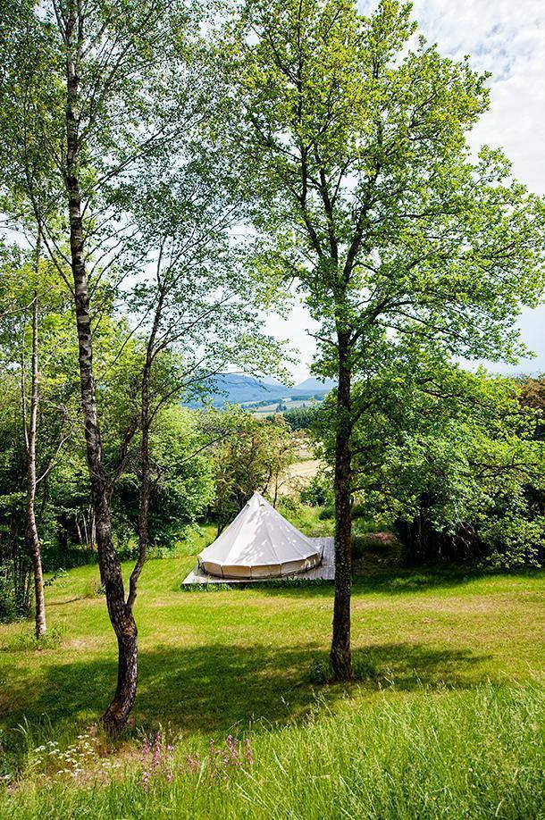 For a more rustic experience there are four tents available at Bois Basalte