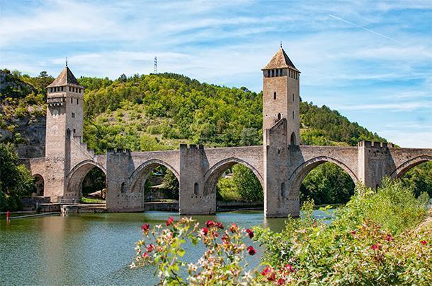 The pretty city of Cahors, in Midi-Pyrénées