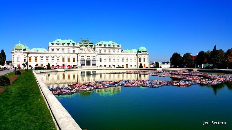 The stunning Belvedere Palace in Vienna, Austria