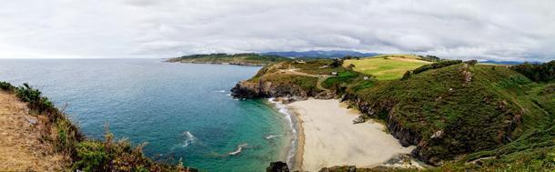 With camping views like this, we didn't want to leave Galicia, Spain