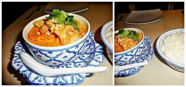 Massaman curry served with rice