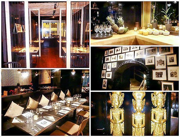 The striking interiors of TOM YAM Thai Restaurant in Brussels, Belgium