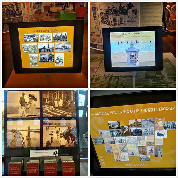 Various interactive modules in the visitor centre