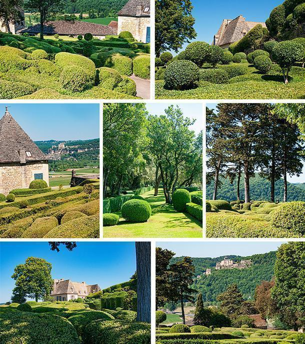 Boxwood hedges everywhere, sculpted to perfection at Marqueyssac gardens
