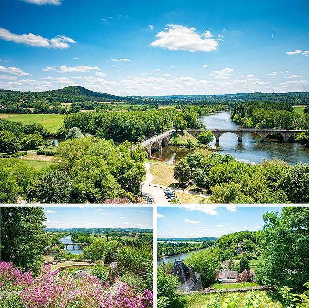 The views of the rivers and valleys give are the highlight of Limeuil's garden