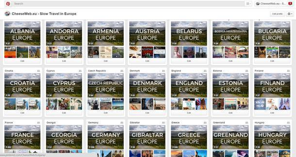 A small sample of my Pinterest travel boards