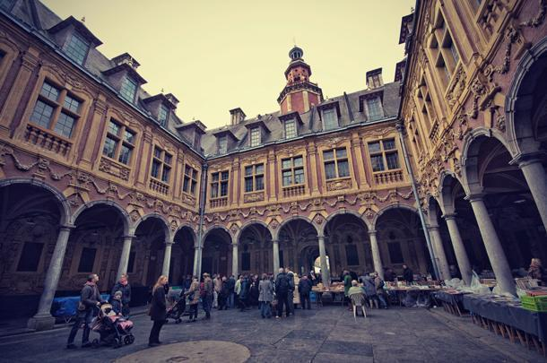 Check out the second=hand book market at the Vieille Bourse, in Lille