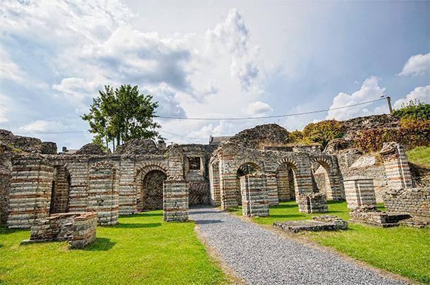 The Roman Ruins at Bavay are well worth stopping for