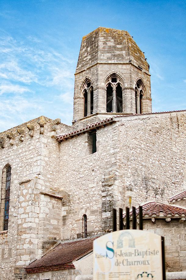 Charroux's historic Saint-Jean-Baptiste church