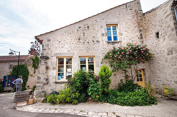 The gourmet shop, La Remise, in the village of Charroux, France