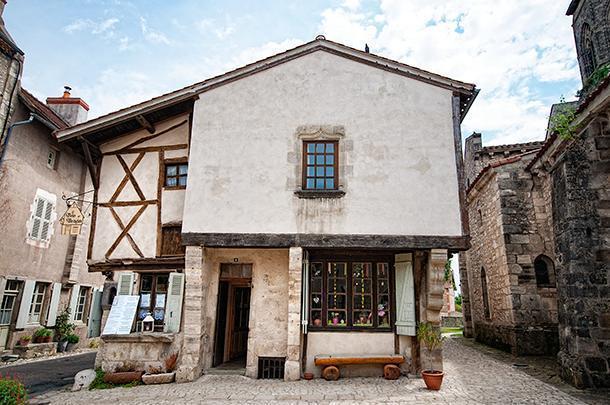 The pretty exterior of Les Bougies de Charroux, France