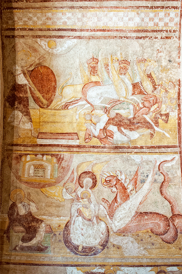 This woman and dragon also decorates Saint Savin's entryway