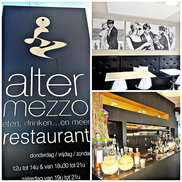 Altermezzo restaurant's modern design, in Tongeren, Belgium
