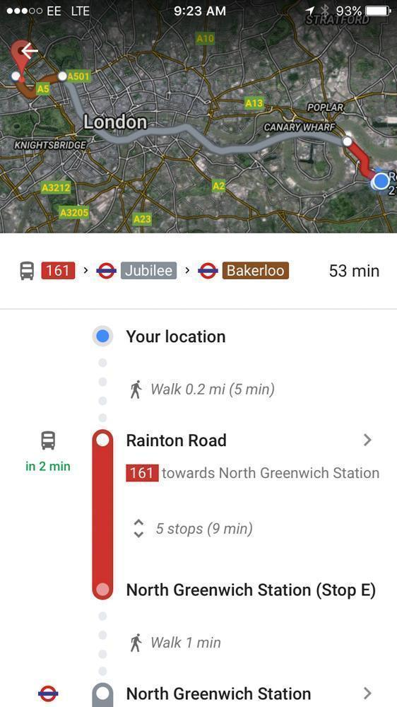 Take the tube to save time and frustration