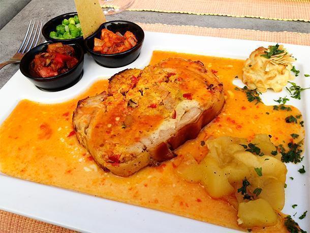 Don't miss the gastronomic menu at Chateau de la Motte