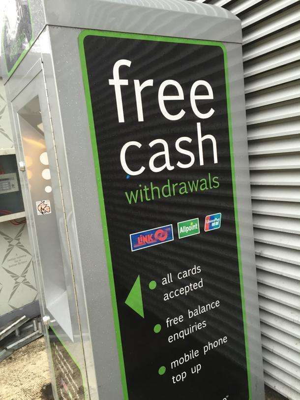 Find fee-free ATMs for cash withdrawals in London