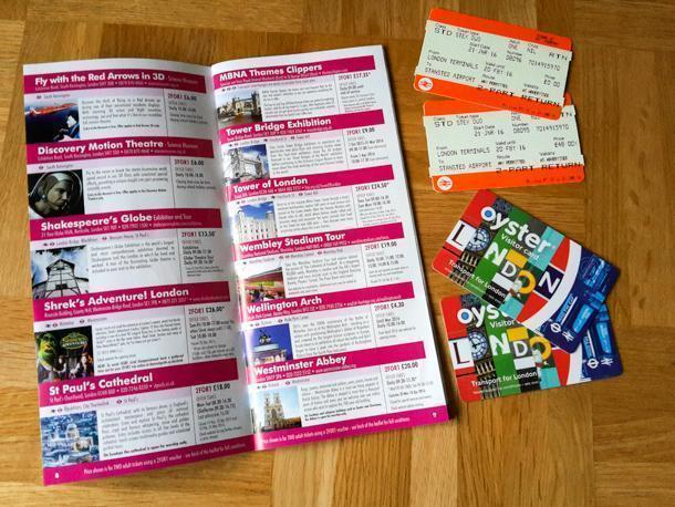 Get your Oyster cards and savings booklet before you leave the airport