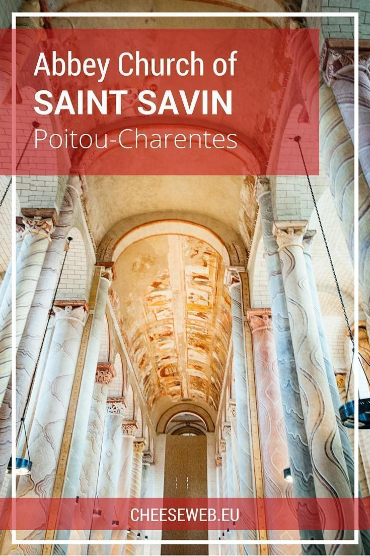 The Abbey of Saint Savin UNESCO site in Poitou-Charentes, France