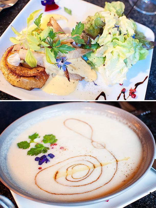 Our soup and salad were large enough to be main courses