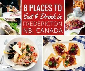 Places to eat and drink local in fredericton new brunswick canada