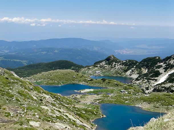Three of the Seven Rila Lakes, Bulgaria